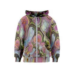 Retro Background Colorful Hippie Kids  Zipper Hoodie