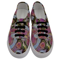 Retro Background Colorful Hippie Men s Classic Low Top Sneakers