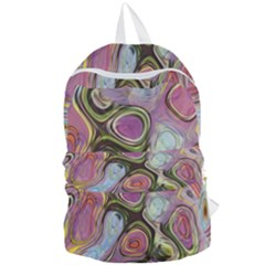 Retro Background Colorful Hippie Foldable Lightweight Backpack