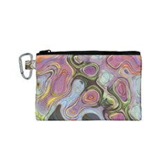 Retro Background Colorful Hippie Canvas Cosmetic Bag (small)