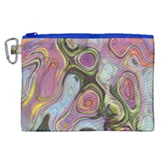 Retro Background Colorful Hippie Canvas Cosmetic Bag (xl)