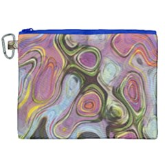 Retro Background Colorful Hippie Canvas Cosmetic Bag (xxl)