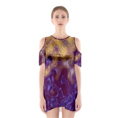 Fractal Rendering Background Shoulder Cutout One Piece