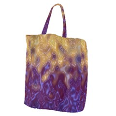 Fractal Rendering Background Giant Grocery Zipper Tote