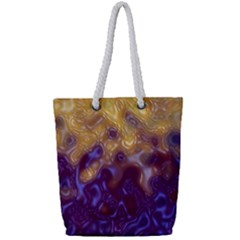Fractal Rendering Background Full Print Rope Handle Tote (small)