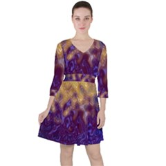 Fractal Rendering Background Ruffle Dress