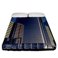 Skyscraper Skyscrapers Building Fitted Sheet (california King Size)