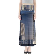 Skyscraper Skyscrapers Building Full Length Maxi Skirt