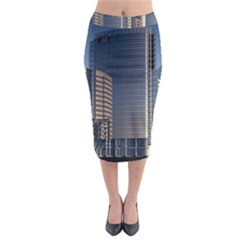 Skyscraper Skyscrapers Building Midi Pencil Skirt