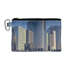 Skyscraper Skyscrapers Building Canvas Cosmetic Bag (medium)