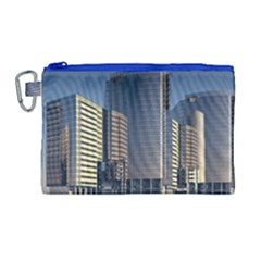 Skyscraper Skyscrapers Building Canvas Cosmetic Bag (large)