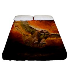 Art Creative Graphic Arts Owl Fitted Sheet (queen Size)
