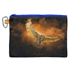 Art Creative Graphic Arts Owl Canvas Cosmetic Bag (xl)