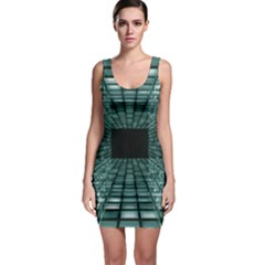 Abstract Perspective Background Bodycon Dress