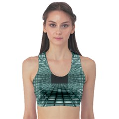 Abstract Perspective Background Sports Bra