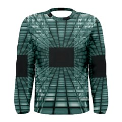 Abstract Perspective Background Men s Long Sleeve Tee