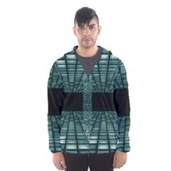 Abstract Perspective Background Hooded Wind Breaker (men)