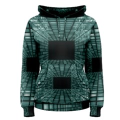 Abstract Perspective Background Women s Pullover Hoodie