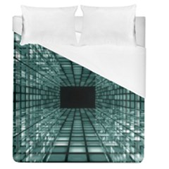 Abstract Perspective Background Duvet Cover (queen Size)