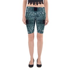 Abstract Perspective Background Yoga Cropped Leggings