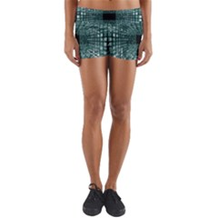Abstract Perspective Background Yoga Shorts