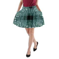 Abstract Perspective Background A Line Pocket Skirt