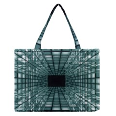 Abstract Perspective Background Zipper Medium Tote Bag