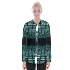 Abstract Perspective Background Womens Long Sleeve Shirt