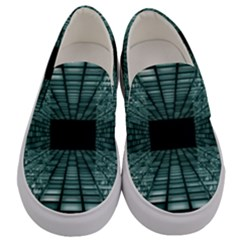 Abstract Perspective Background Men s Canvas Slip Ons