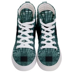 Abstract Perspective Background Men s Hi Top Skate Sneakers