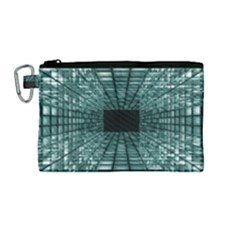 Abstract Perspective Background Canvas Cosmetic Bag (medium)