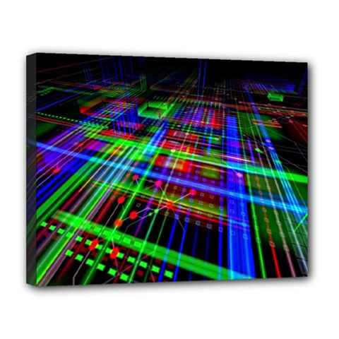 Electronics Board Computer Trace Canvas 14  X 11