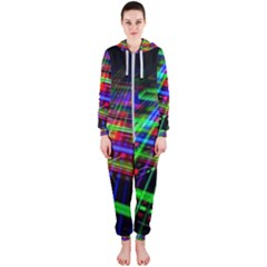 Electronics Board Computer Trace Hooded Jumpsuit (ladies)