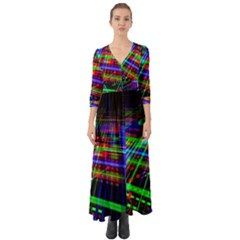 Electronics Board Computer Trace Button Up Boho Maxi Dress