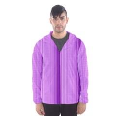 Background Texture Pattern Purple Hooded Wind Breaker (men)