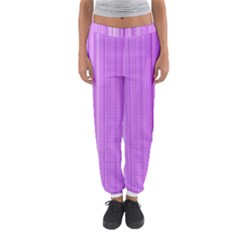 Background Texture Pattern Purple Women s Jogger Sweatpants