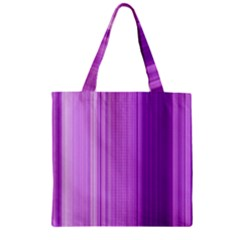 Background Texture Pattern Purple Zipper Grocery Tote Bag