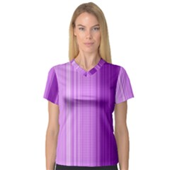 Background Texture Pattern Purple V Neck Sport Mesh Tee