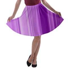 Background Texture Pattern Purple A Line Skater Skirt