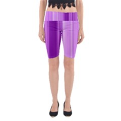 Background Texture Pattern Purple Yoga Cropped Leggings