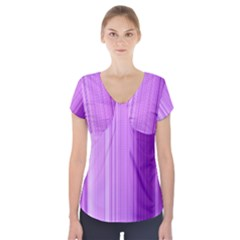 Background Texture Pattern Purple Short Sleeve Front Detail Top