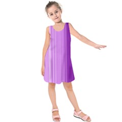 Background Texture Pattern Purple Kids  Sleeveless Dress