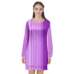 Background Texture Pattern Purple Long Sleeve Chiffon Shift Dress