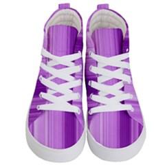 Background Texture Pattern Purple Kid s Hi Top Skate Sneakers