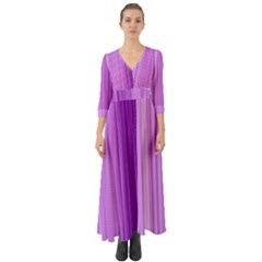 Background Texture Pattern Purple Button Up Boho Maxi Dress