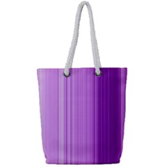 Background Texture Pattern Purple Full Print Rope Handle Tote (small)