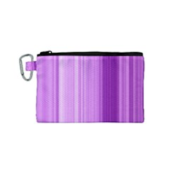 Background Texture Pattern Purple Canvas Cosmetic Bag (small)