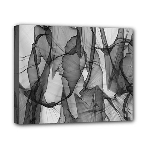 Abstract Black And White Background Canvas 10  X 8