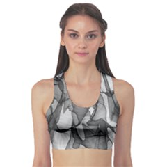 Abstract Black And White Background Sports Bra
