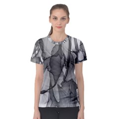 Abstract Black And White Background Women s Sport Mesh Tee
